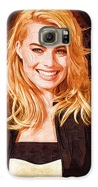 Margot Robbie Painting Galaxy S6 Case by Best Actors