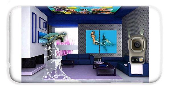 Rooftop Saltwater Fish Tank Art Galaxy S6 Case