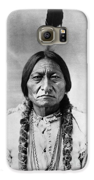 Bull Galaxy S6 Case - Sitting Bull 1834-1890. To License For Professional Use Visit Granger.com by Granger
