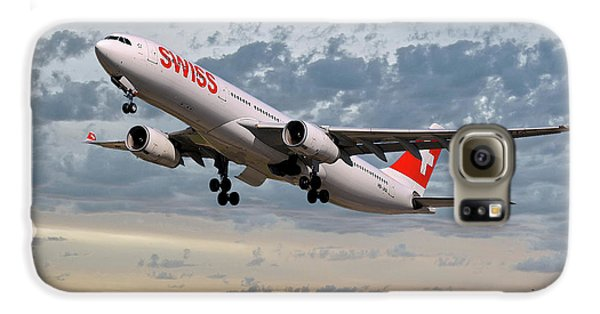 Jet Galaxy S6 Case - Swiss Airbus A330-343 by Smart Aviation