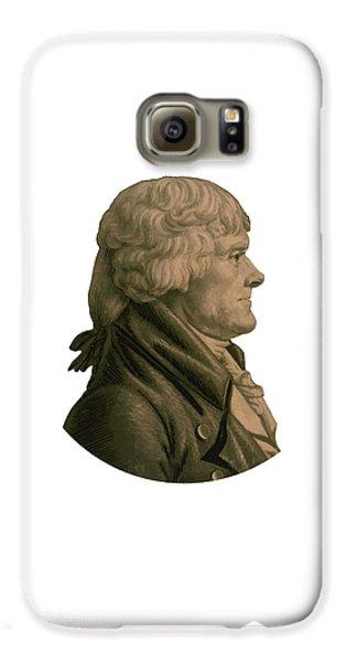 Thomas Jefferson Galaxy S6 Case - Thomas Jefferson Profile by War Is Hell Store