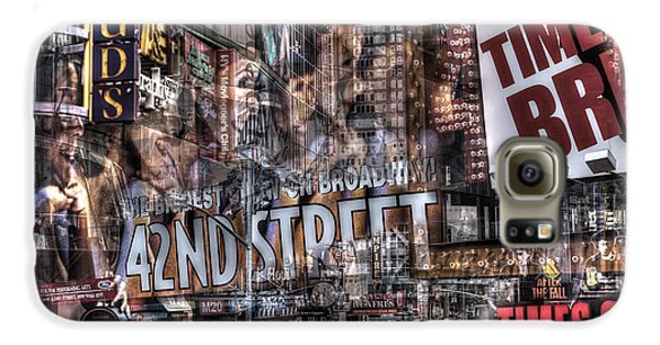 Galaxy S6 Case featuring the photograph 42nd Street Times Square 2 by Dave Beckerman