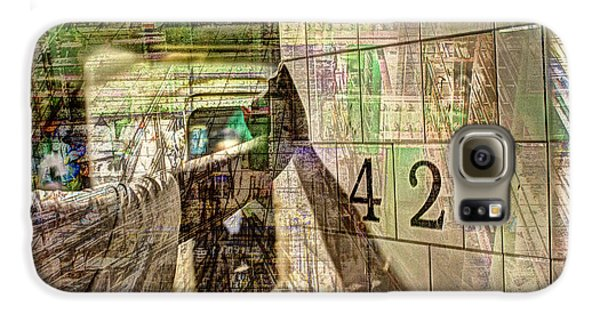 42nd Subway Collage Galaxy S6 Case by Dave Beckerman