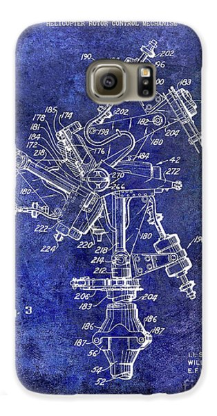 1950 Helicopter Patent Galaxy S6 Case by Jon Neidert