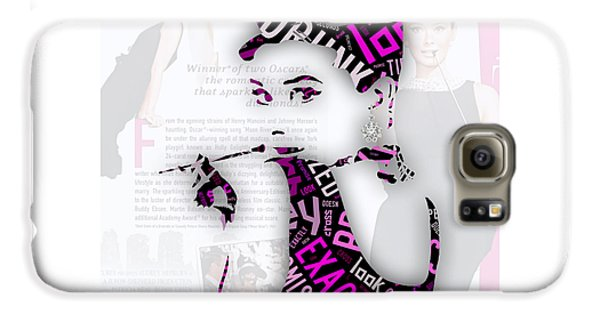 Audrey Hepburn Breakfast At Tiffany's Quotes Galaxy S6 Case by Marvin Blaine