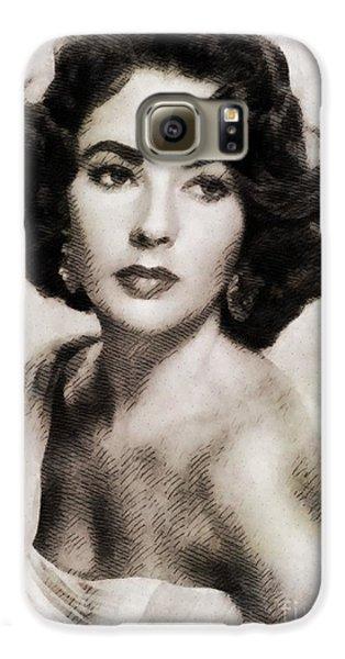 Elizabeth Taylor, Vintage Hollywood Legend Galaxy S6 Case