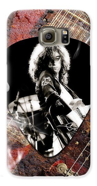 Jimmy Page Art Galaxy S6 Case by Marvin Blaine