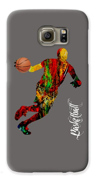 Basketball Collection Galaxy S6 Case by Marvin Blaine