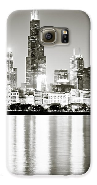 Chicago Skyline At Night Galaxy S6 Case by Paul Velgos