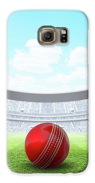Cricket Galaxy S6 Case - Floodlit Stadium Day by Allan Swart