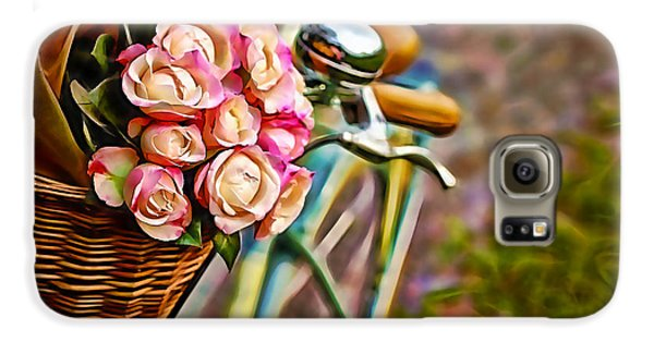 Flower Bike Collection Galaxy S6 Case by Marvin Blaine