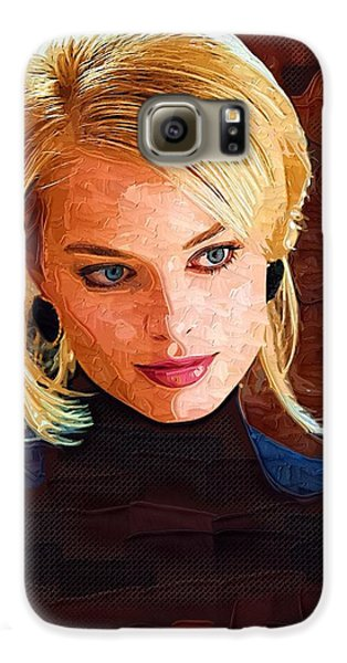 Margot Robbie Painting Galaxy S6 Case