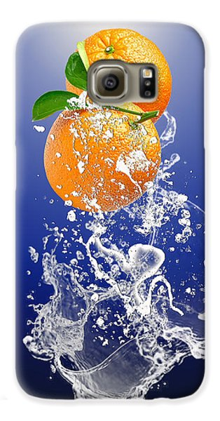 Galaxy S6 Case featuring the mixed media Orange Splash by Marvin Blaine