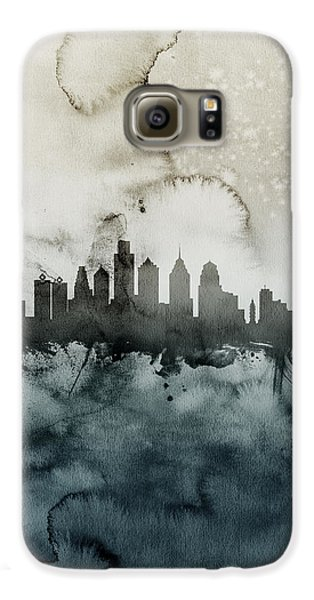 Philadelphia Pennsylvania Skyline Galaxy S6 Case by Michael Tompsett