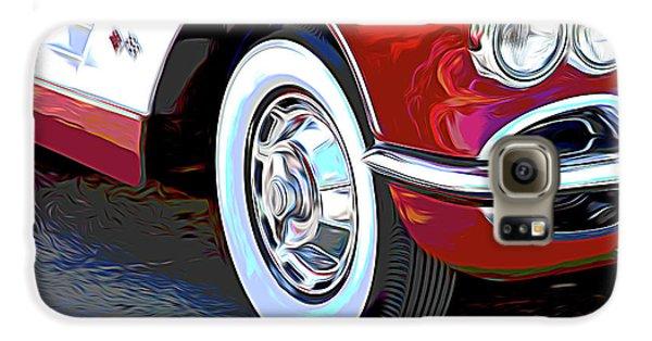 Automobile Galaxy S6 Case - 61 Corvette by Tom Mc Nemar