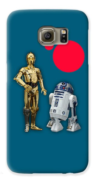 Star Wars C3po And R2d2 Collection Galaxy S6 Case