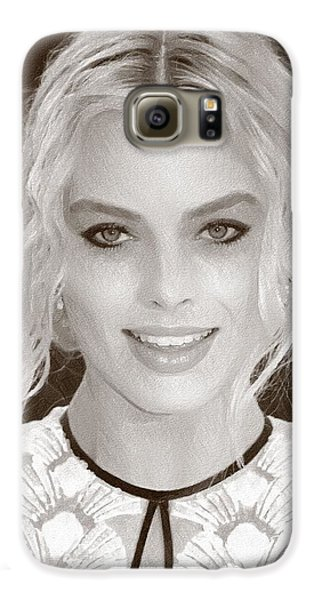 Actress Margot Robbie Galaxy S6 Case by Best Actors