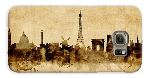 Paris France Skyline Galaxy S6 Case by Michael Tompsett