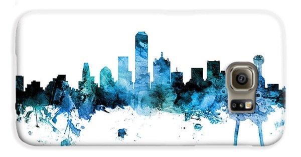 Dallas Galaxy S6 Case - Dallas Texas Skyline by Michael Tompsett