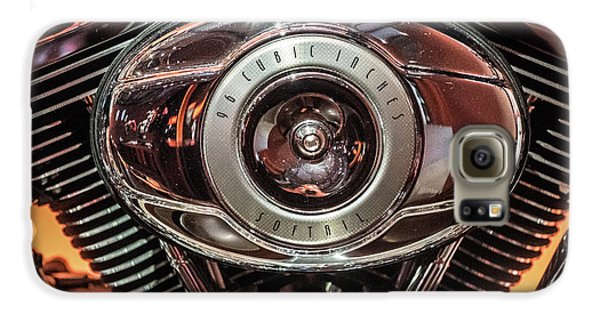 Galaxy S6 Case featuring the photograph 96 Cubic Inches Softail by Randy Scherkenbach