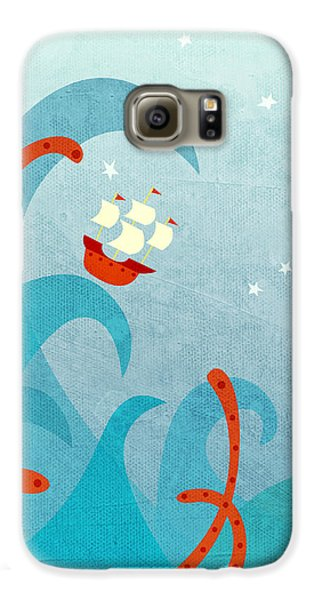 Boat Galaxy S6 Case - A Bad Day For Sailors by Nic Squirrell