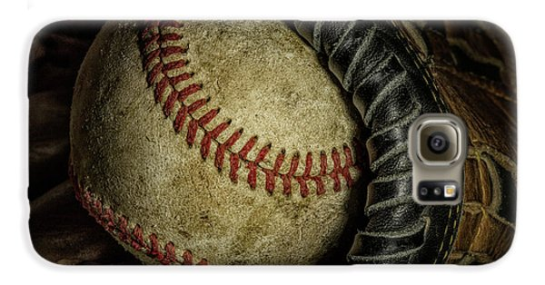 Baseball Gloves Galaxy S6 Case - A Baseball Still Life by Tom Mc Nemar