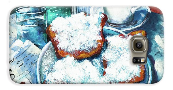 Food And Beverage Galaxy S6 Case - A Beignet Morning by Dianne Parks