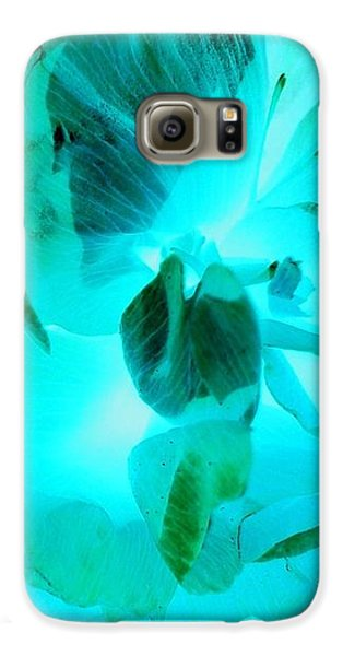 Galaxy S6 Case - A Bloom In Turquoise by Orphelia Aristal