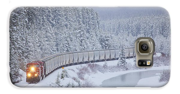 A Canadian Pacific Train Travels Along Galaxy S6 Case by Chris Bolin