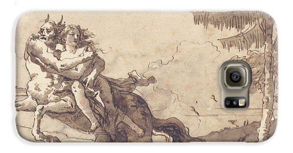 Centaur Galaxy S6 Case - A Centaur Abducting A Nymph by Giovanni Domenico Tiepolo