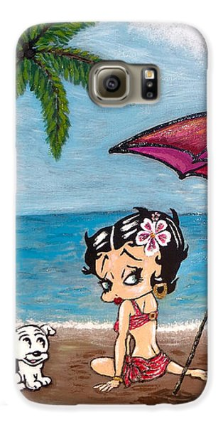 A Day At The Beach Galaxy S6 Case by Teresa Wing