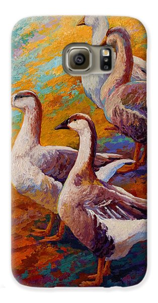 A Gaggle Of Four - Geese Galaxy S6 Case by Marion Rose
