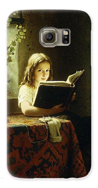 A Girl Reading Galaxy S6 Case by Johann Georg Meyer
