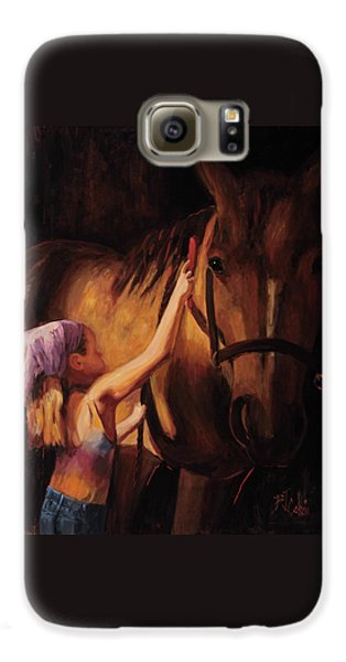Horse Galaxy S6 Case - A Girls First Love by Billie Colson
