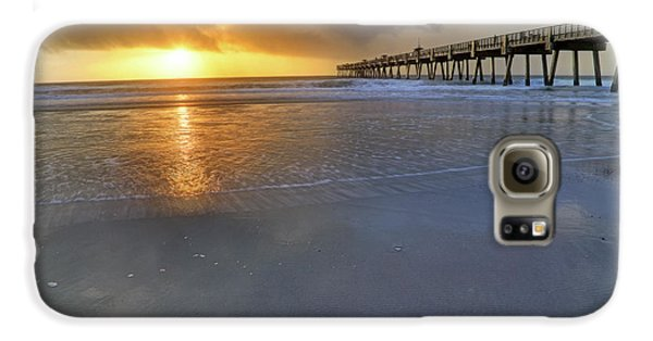 A Jacksonville Beach Sunrise - Florida - Ocean - Pier  Galaxy S6 Case