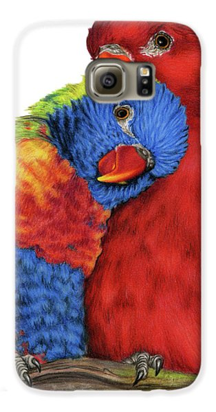 Lovebird Galaxy S6 Case - Love Will Keep Us Together by Sarah Batalka