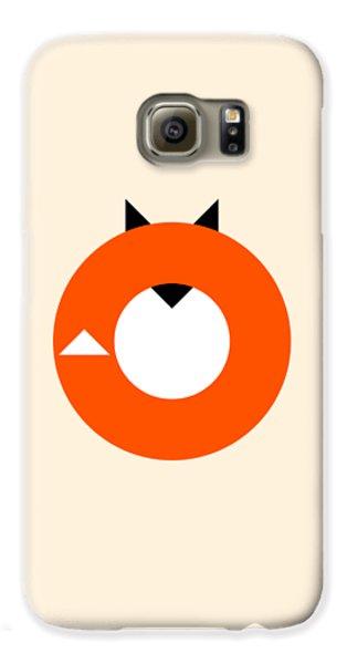 Fox Galaxy S6 Case - A Most Minimalist Fox by Nicholas Ely