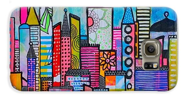 Galaxy S6 Case - A New 12 X12 #cityscape #collage by Robin Mead