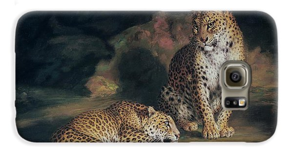 A Pair Of Leopards Galaxy S6 Case by William Huggins