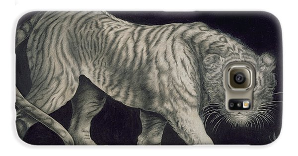 A Prowling Tiger Galaxy S6 Case by Elizabeth Pringle