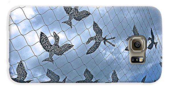 A Sculptural Flock No. 103-1 Galaxy S6 Case by Sandy Taylor
