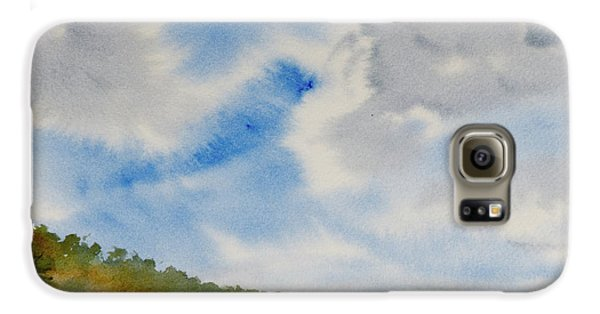 A Secluded Inlet Beneath Billowing Clouds Galaxy S6 Case