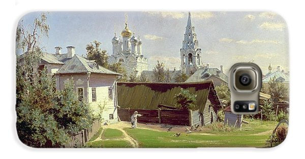 A Small Yard In Moscow Galaxy S6 Case by Vasilij Dmitrievich Polenov