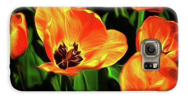 Tulip Galaxy S6 Case - A Splash Of Color by Tom Mc Nemar