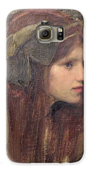 Portraits Galaxy S6 Case - A Study For A Naiad by John William Waterhouse
