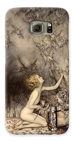 A Sudden Swarm Of Winged Creatures Brushed Past Her Galaxy S6 Case by Arthur Rackham