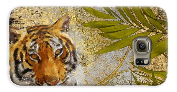 A Taste Of Africa Tiger Galaxy S6 Case by Mindy Sommers