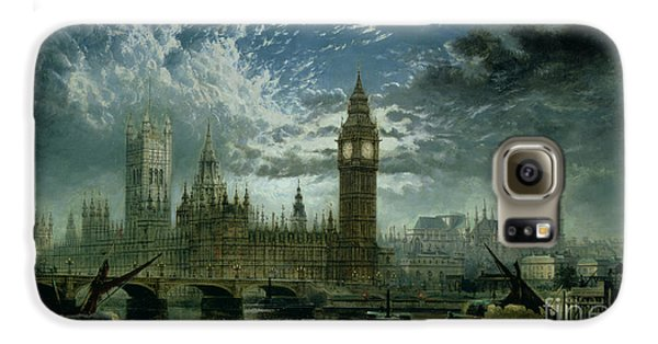A View Of Westminster Abbey And The Houses Of Parliament Galaxy S6 Case by John MacVicar Anderson