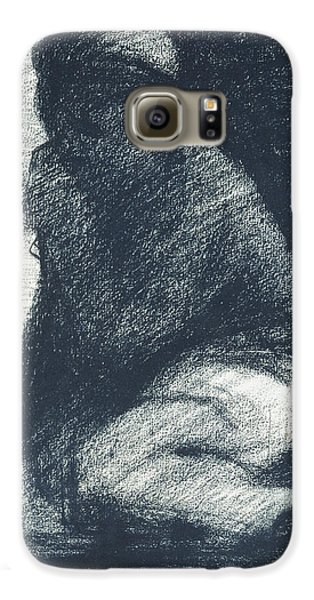Boy George Galaxy S6 Case - A Young Man Crouching by Georges Pierre Seurat