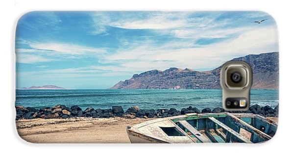 Canary Galaxy S6 Case - Abandoned Boat by Delphimages Photo Creations